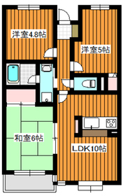 エスポワール平和台1階Fの間取り画像
