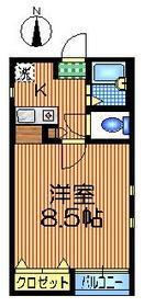 ハイム池田23階Fの間取り画像