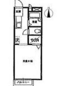 グレイスフラッツ2階Fの間取り画像