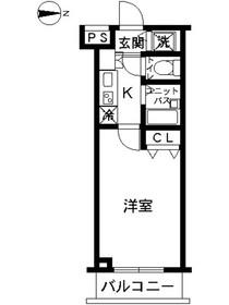 スカイコート阿佐ヶ谷第51階Fの間取り画像