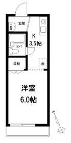 メゾンYM2階Fの間取り画像