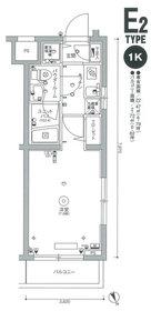 スカイコート品川東大井1階Fの間取り画像