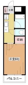 ボヌール金原4階Fの間取り画像
