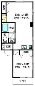 矢萩メゾン1階Fの間取り画像