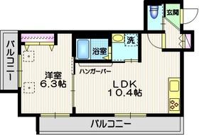 西大井クレーレ3階Fの間取り画像