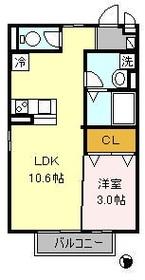 目黒駅 徒歩9分2階Fの間取り画像