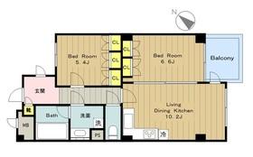 カスタネア栗平(旧プリメール栗平)3番館5階Fの間取り画像