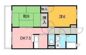 Brunnen・Motosumiyoshi2階Fの間取り画像