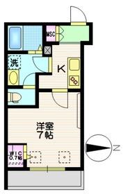 NewSafole武蔵新城1階Fの間取り画像