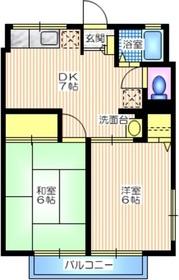 シティハイム 三立ハイツA2階Fの間取り画像