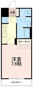 グレース菅仙谷1階Fの間取り画像