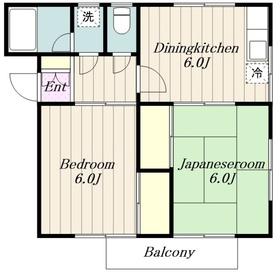 グリーンヒルズ斎藤2階Fの間取り画像