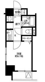 プレール・ドゥーク銀座EAST5階Fの間取り画像
