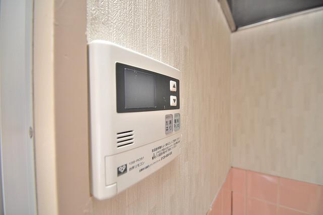 メゾン・ワンダー 給湯リモコン付。温度調整は指1本、いつでもお好みの温度です。