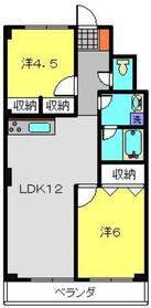 新羽駅 徒歩27分2階Fの間取り画像