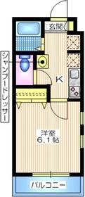 メゾン ブランカ3階Fの間取り画像