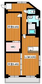 下赤塚駅 徒歩8分2階Fの間取り画像