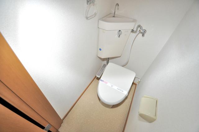 メゾン・ド・ソレイユ 清潔感のある爽やかなトイレ。誰もがリラックスできる空間です。