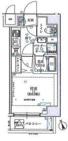 SHOKEN Residence横浜伊勢町5階Fの間取り画像
