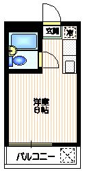 プチメゾン松ヶ丘2階Fの間取り画像