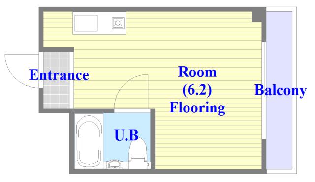 東大阪市足代北1丁目の賃貸マンション 人気の全室フローリング。使いやすいゆったりとした間取り。