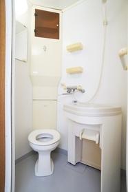 洗面台を回すとトイレあり
