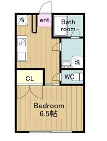 土方コーポ4階Fの間取り画像