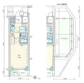 バージュアル横濱妙蓮寺4階Fの間取り画像