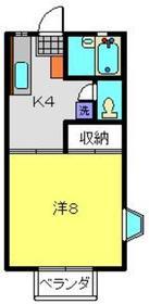 メゾンドフルール菊名1階Fの間取り画像