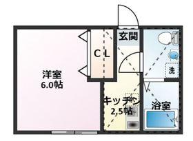 新川崎駅 徒歩29分2階Fの間取り画像
