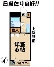 グランドール青木2階Fの間取り画像