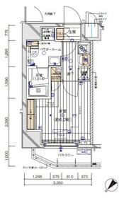 メインステージ川崎EAST2階Fの間取り画像