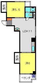 タカノフラット3階Fの間取り画像