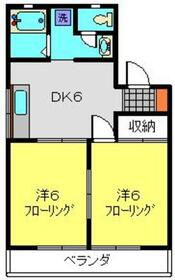 ヒルハイムウィン2階Fの間取り画像