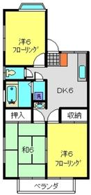 三ッ沢上町駅 徒歩38分2階Fの間取り画像