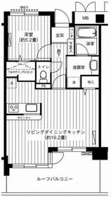 新御茶ノ水アーバントリニティ10階Fの間取り画像