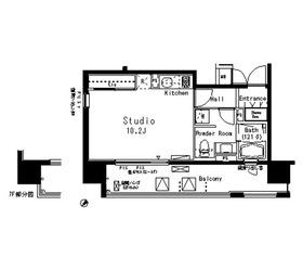 パークアクシス八丁堀5階Fの間取り画像