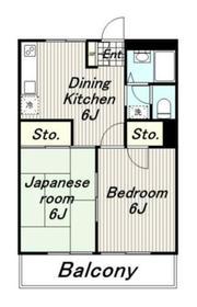 ハイツニュータマ3階Fの間取り画像