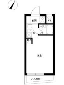 スカイコート鶴見52階Fの間取り画像