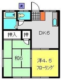 新杉田駅 徒歩5分2階Fの間取り画像