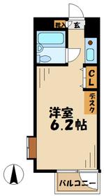 貝取学生会館3階Fの間取り画像