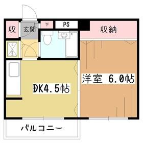 メゾンドクローネ4階Fの間取り画像