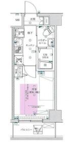 フェルクルールプレスト川崎アリビエ6階Fの間取り画像