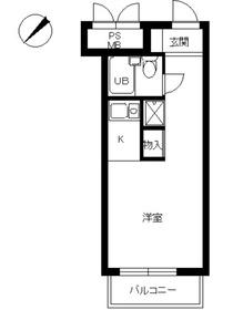 スカイコート世田谷用賀7階Fの間取り画像
