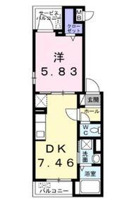 サンクタス3階Fの間取り画像