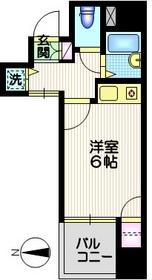 ジョイシティ品川11階Fの間取り画像