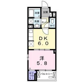クレッセント3階Fの間取り画像