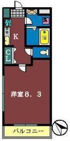 ソレイユ津田沼2階Fの間取り画像