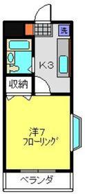 ヴィラロイヤル妙蓮寺3階Fの間取り画像