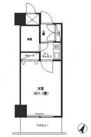 コシノパークサイドビル7階Fの間取り画像